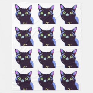 De zwarte Deken van de Vacht van de Kat
