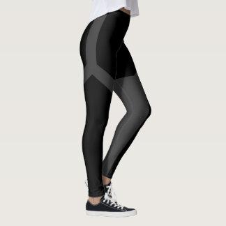 De zwarte Donkere Grijze Beenkappen van de Yoga Leggings