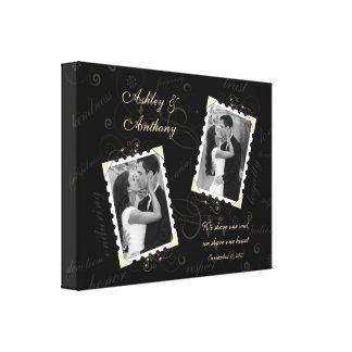 De zwarte Druk van het Canvas van het Huwelijk van