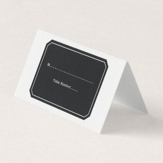 De zwarte eenvoudig Elegante Kaarten van de Plaats