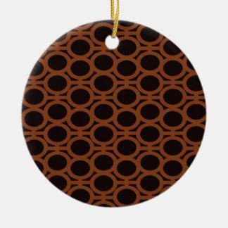 De zwarte en Bruine Oogjes van de Bel Rond Keramisch Ornament