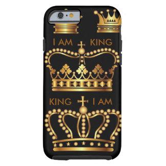 De zwarte en Gouden Kronen IPhone 6 van de Koning Tough iPhone 6 Hoesje