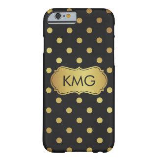 De Zwarte en Gouden Stippen van het modieuze Barely There iPhone 6 Hoesje
