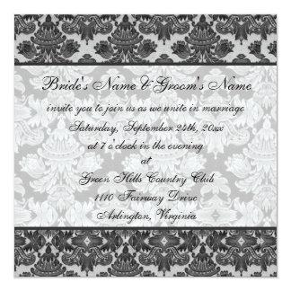De zwarte en Grijze Uitnodiging van het Huwelijk