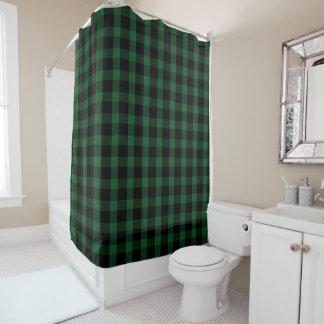 De zwarte en Groene Plattelander van de Controle Douchegordijn