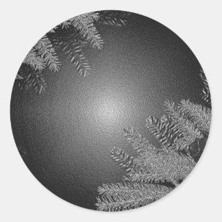 De Zwarte en het Grijs van de Poinsettia van Ronde Sticker
