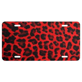 De Zwarte en het Rood van de luipaard Nummerplaat