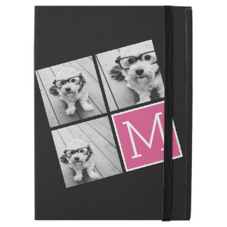 De zwarte en Roze Trendy Collage van de Foto met