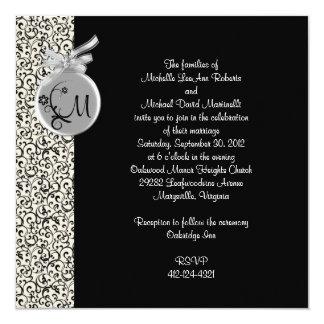 De zwarte en Zilveren Uitnodiging van de Diamanten