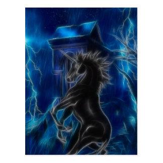 De zwarte Fantasie van de Eenhoorn Briefkaart