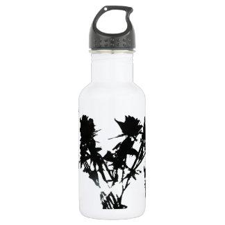 De zwarte Fles van het Water van Rozen