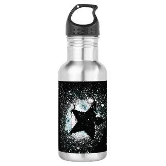 De zwarte Fles van het Water van Sterren