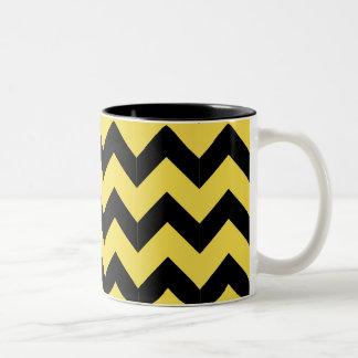 De zwarte & Gele Mok van de Zigzag