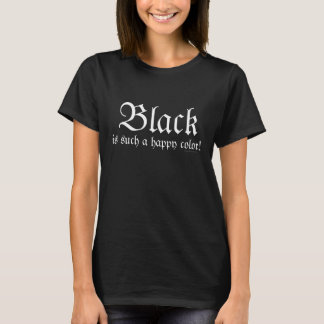 De zwarte Gelukkige T-shirt van Morticia Addams