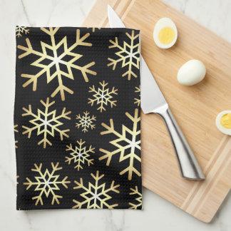 De zwarte gouden handdoek van de de
