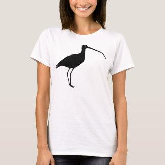 De zwarte Grafische Vogel van de Wulp T Shirt