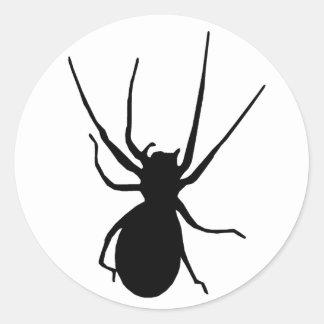 De zwarte Griezelige Stickers van de Spin