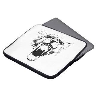 De zwarte & het Wit horen Mijn Gebrul! - Laptop Laptop Sleeve