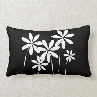 De Zwarte & het Wit van de bloem Bliss2 Lumbar Kussen