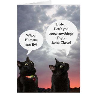 De zwarte Kaart van Pasen van Katten