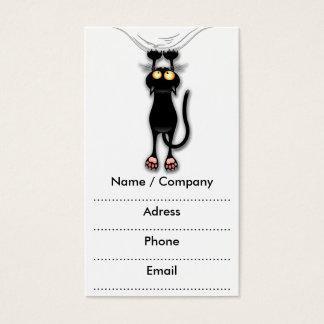 De Zwarte Kat die van de pret onderaan Visitekaartjes