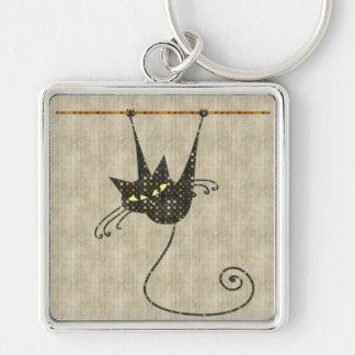 De Zwarte Kat Keychain van Halloween Sleutelhanger