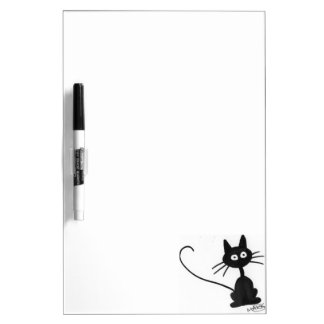 De Zwarte Kat van de cartoon Dry Erase Whiteboards