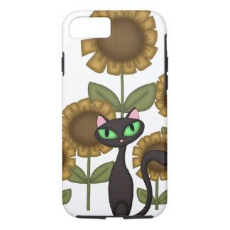 De Zwarte Kat van de zonnebloem iPhone 8/7 Hoesje