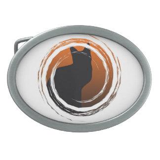 De Zwarte Kat van Halloween in Spiraalvormig Gespen