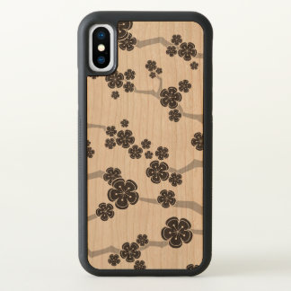 De zwarte Kers Sakura komt Bloemen Oosterse Zen iPhone X Hoesje