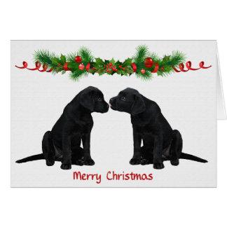 De zwarte Kerstkaart van Labrador Briefkaarten 0