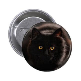 De zwarte Knoop van de Kat Ronde Button 5,7 Cm