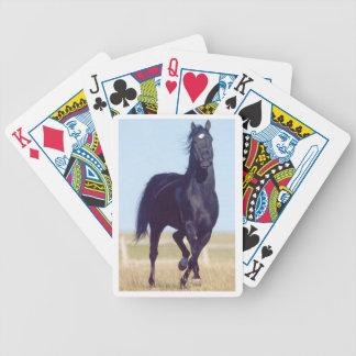 De zwarte Lopende Speelkaarten van het Paard Poker Kaarten