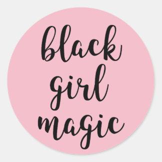 De zwarte Magische Sticker van het Meisje