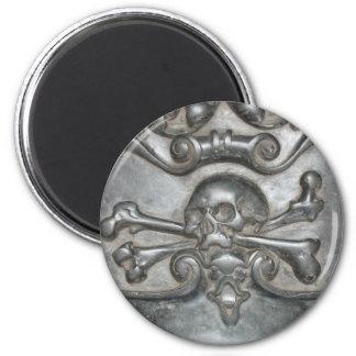 De zwarte Marmeren Magneten van de Schedel & van d