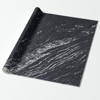 De zwarte Marmeren Steen van Carrara van de Marine Inpakpapier
