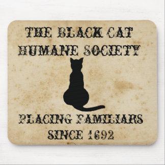 De zwarte Menselijke Maatschappij van de Kat Muismat