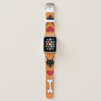 De zwarte Miniatuur Min Band van het Horloge van