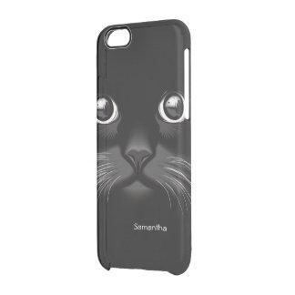 De zwarte Ogen van de Kat Doorzichtig iPhone 6/6S Hoesje