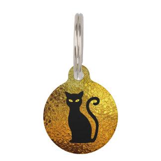 De zwarte Ogen van de Kat van de Textuur van het Huisdierpenning
