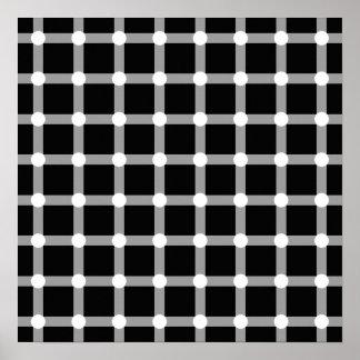 De zwarte Optische illusie van het Vierkant van he Poster