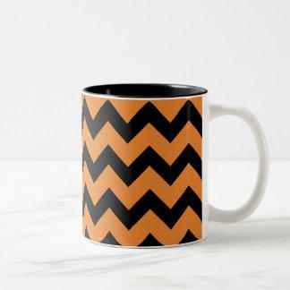 De zwarte & Oranje Mok van de Zigzag