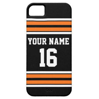 De zwarte Oranje Naam van het Aantal van de Douane Barely There iPhone 5 Hoesje