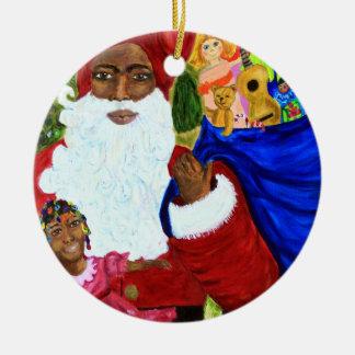 De zwarte Ornamenten van Kerstmis van de Kerstman