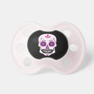 De zwarte Roze Fopspeen van de Schedel van het