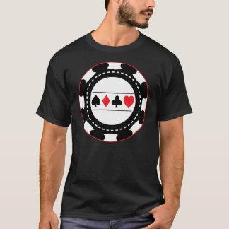 De zwarte Spaander van het Casino T Shirt