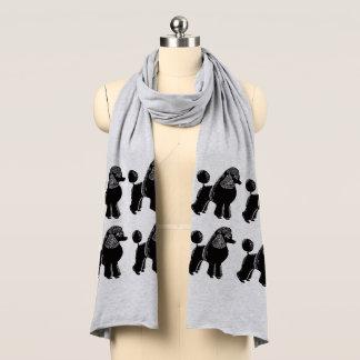 De zwarte StandaardSjaal van Jersey van Poedels Sjaal