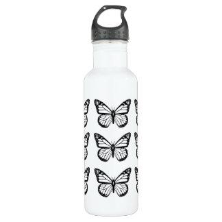 De zwarte Stencils van de Vlinder Waterfles