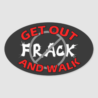 De Zwarte Sticker van de Bumper van Fracking,