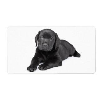 De zwarte Sticker van de Hond van het Puppy van de